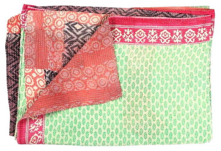 Hand-Stitched Kantha Throw, Rhianna