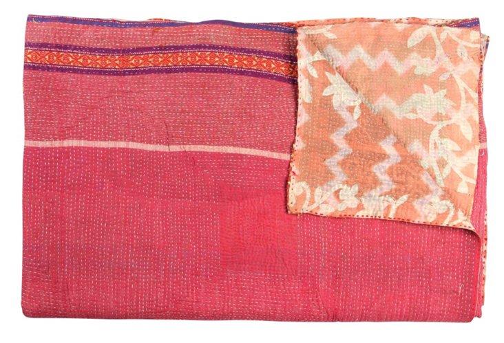 Hand-Stitched Kantha Throw, Marrakech