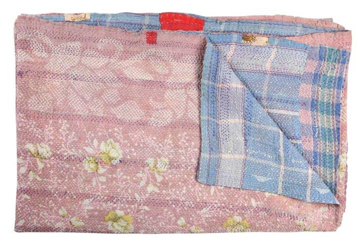 Hand-Stitched Kantha Throw, Lamkansa