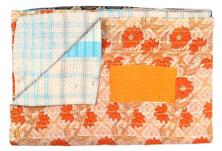 Hand-Stitched Kantha Throw, Chichoua
