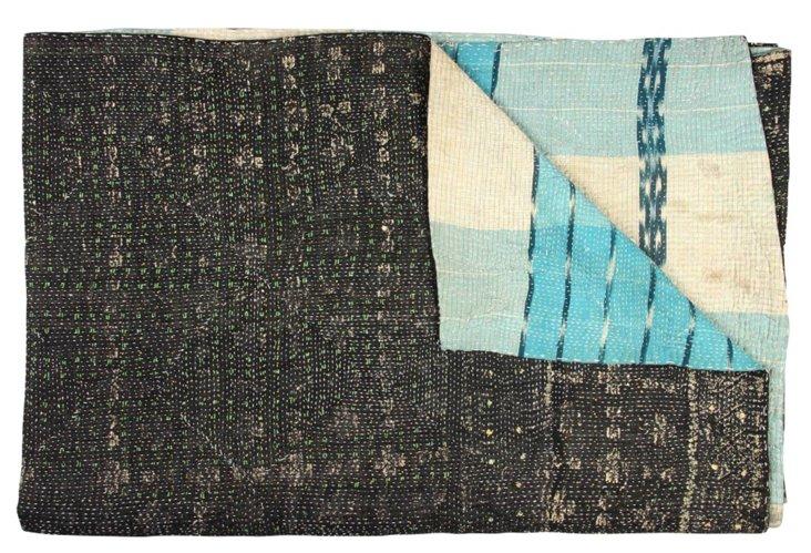 Hand-Stitched Kantha Throw, Etawah