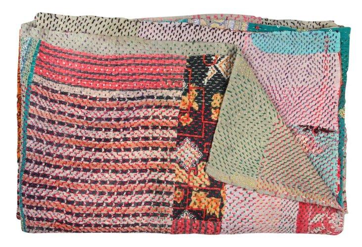 Hand-Stitched Kantha Throw, Nagaland