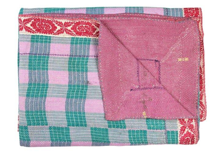 Hand-Stitched Kantha Throw, Kavali