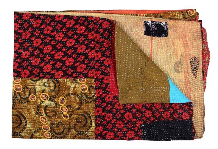 Hand-Stitched Kantha Throw, Mahesana