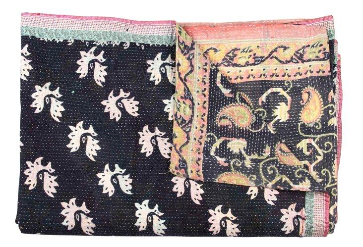 Hand-Stitched Kantha Throw, Anthea
