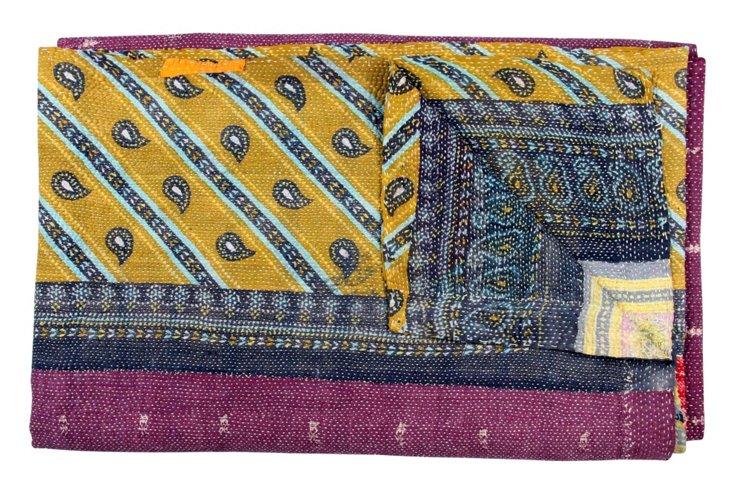 Hand-Stitched Kantha Throw, Tanvi
