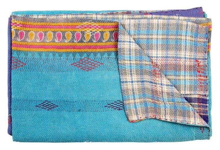 Hand-Stitched Kantha Throw, Nadira