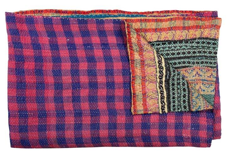 Hand-Stitched Kantha Throw, Nishma