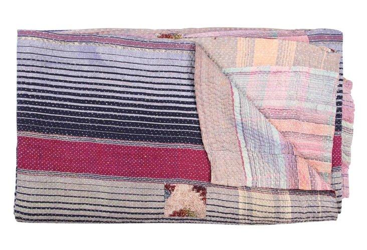 Hand-Stitched Kantha Throw, Soprano