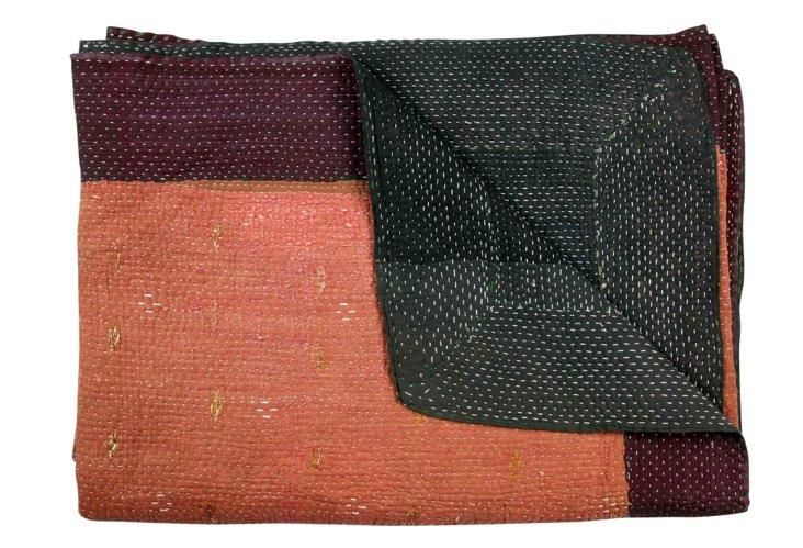 Hand-Stitched Kantha Throw, Liden
