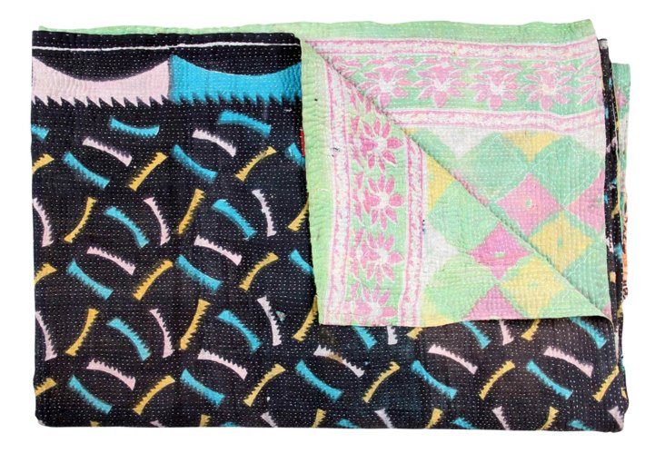 Hand-Stitched Kantha Throw, Pasadena