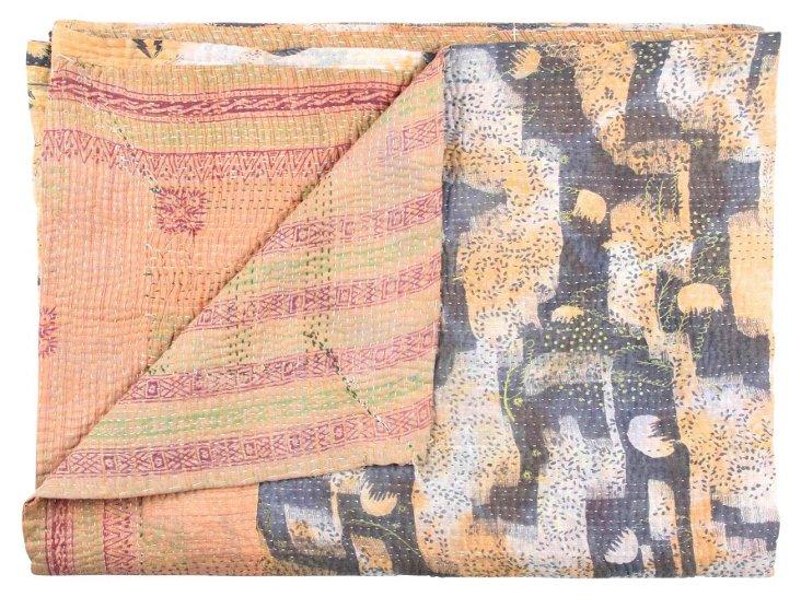 Hand-Stitched Kantha Throw, Ariane