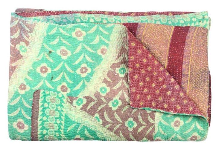 Hand-Stitched Kantha Throw, Pride