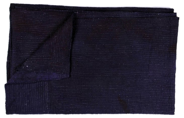 Hand-Stitched Indigo Kantha Throw, Jenn