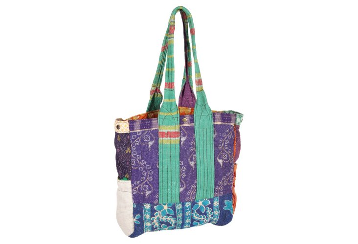 Kantha Multipatch Tote, Ausa