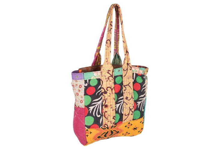 Kantha Multipatch Tote, Bhavani