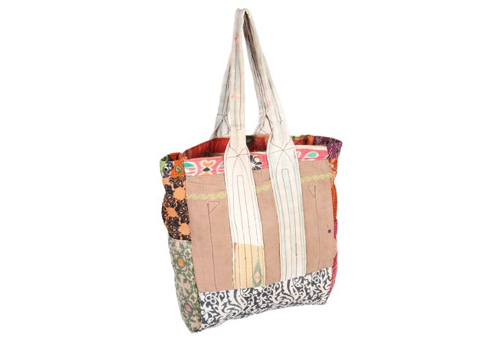 Kantha Multipatch Tote, Lillie