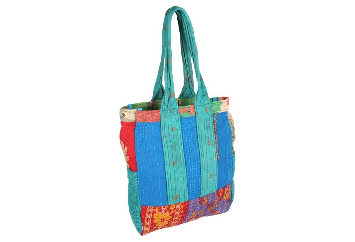 Kantha Multipatch Tote, Horatio