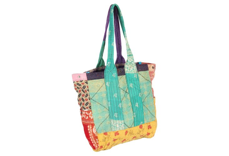 Kantha Multipatch Tote, Prince