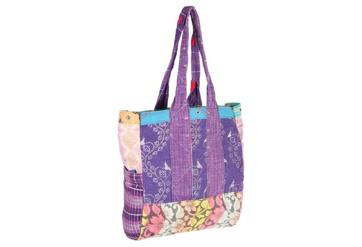 Kantha Multipatch Tote, Chandil