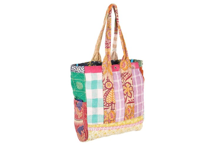 Kantha Multipatch Tote, Chiplun