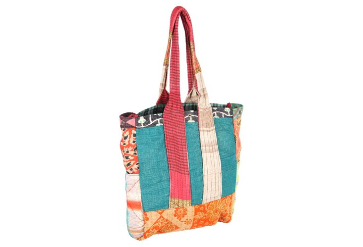 Kantha Multipatch Tote, Dhar