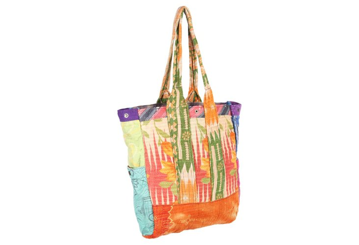 Kantha Multipatch Tote, Crosby
