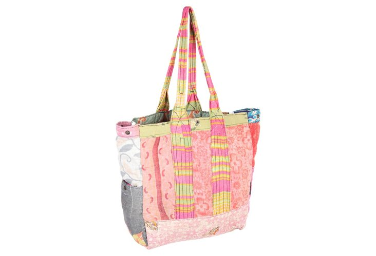 Kantha Multipatch Tote, Cynthia
