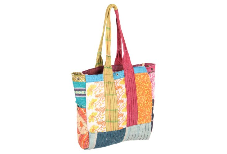 Kantha Multipatch Tote, Angeliann