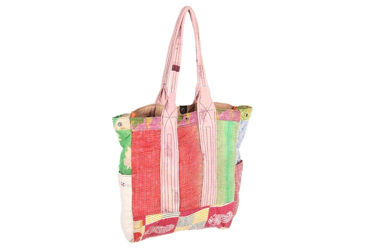 Kantha Multipatch Tote, Kyle