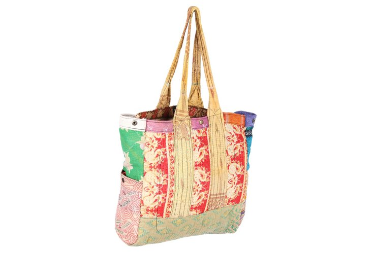Kantha Multipatch Tote, Morgan