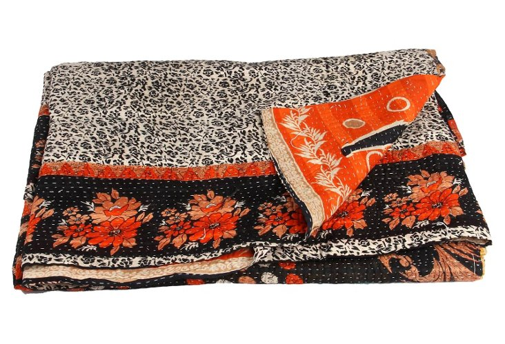 Hand-Stitched Kantha Throw, Prince