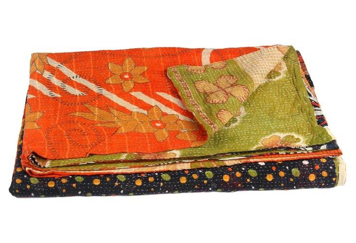 Hand-Stitched Kantha Throw, Michelle