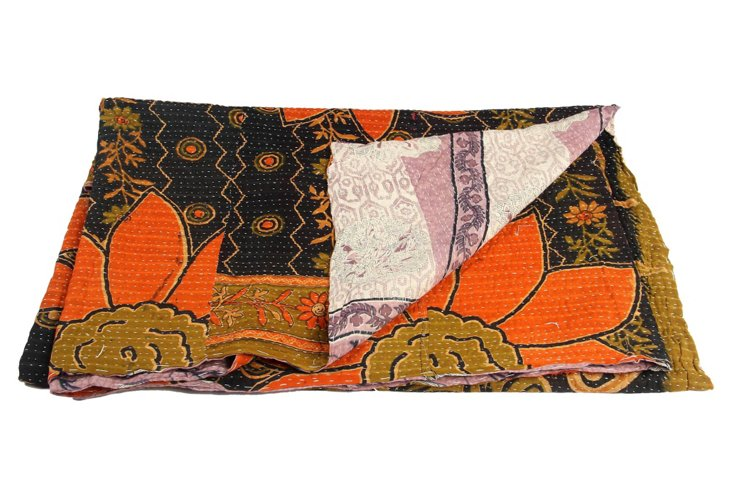 Hand-Stitched Kantha Throw, Morgan