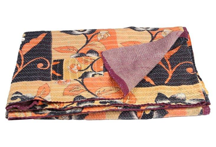 Hand-Stitched Kantha Throw, Samantha