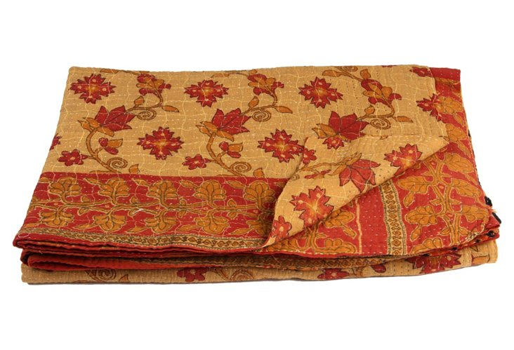 Hand-Stitched Kantha Throw, Raxaul