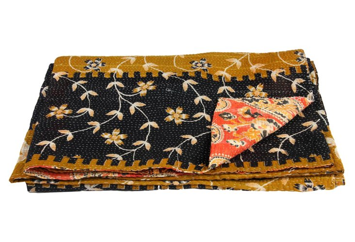 Hand-Stitched Kantha Throw, Samalkot