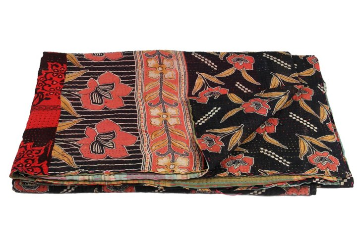 Hand-Stitched Kantha Throw, Henry
