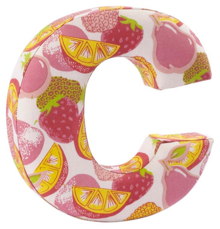 """Fabric Letter """"C"""", Tutti-Frutti"""