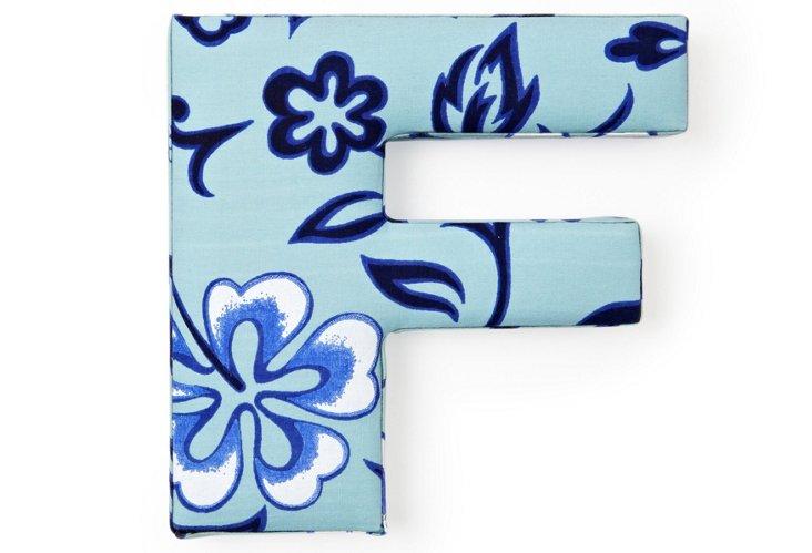 "Fabric Letter ""F"", Aloha Blue"