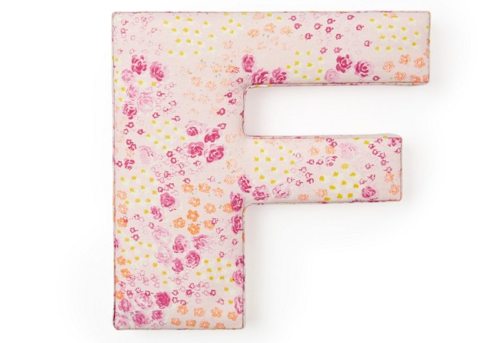 """Fabric Letter """"F"""", Precious Pink"""