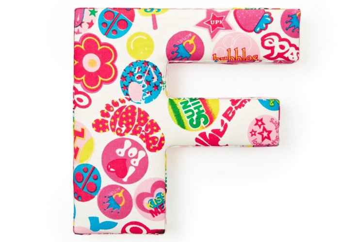 "Fabric Letter ""F"", Teen Queen"