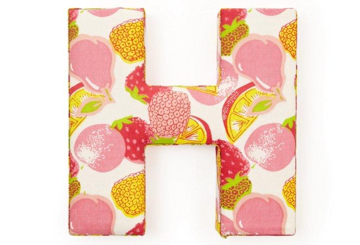 "Fabric Letter ""H"", Tutti-Frutti"