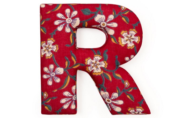 """Fabric Letter """"R"""", Ingalls Red"""