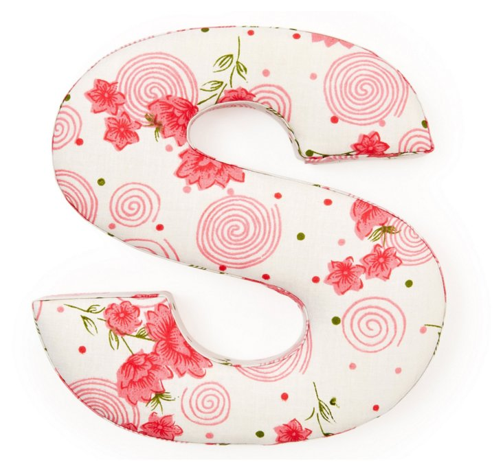 "Fabric Letter ""S"", Swirl Girl"