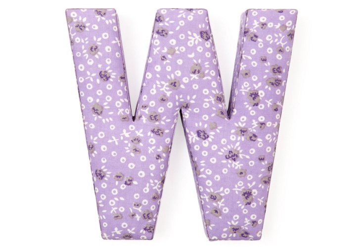 """Fabric Letter """"W"""", Precious Purple"""