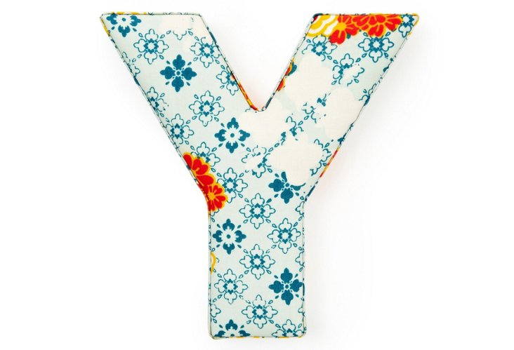 "Fabric Letter ""Y"", Flower Power"