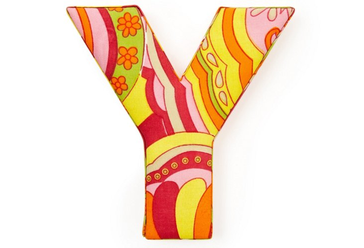 """Fabric Letter """"Y"""", Hippie Chic"""