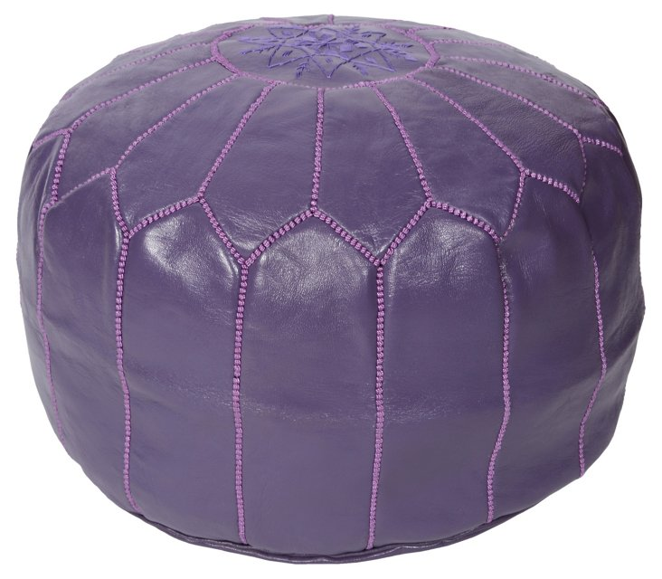 Moroccan Pouf, Purple