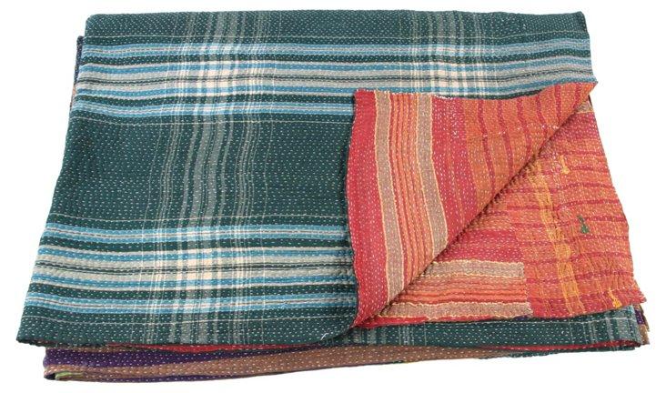 Hand-Stitched Kantha Throw, Kerala